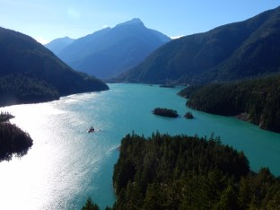 Diablo Lake; very windy.Diablo Lake; very windy.