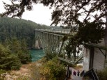 A nice shot of the truss arch bridge over Deception Pass, complete with the swirling current below.