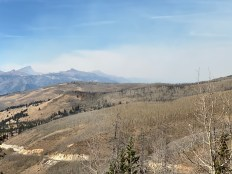 Wildfire smoke as seen from the Windy Point overlook near Slumgullion Pass.