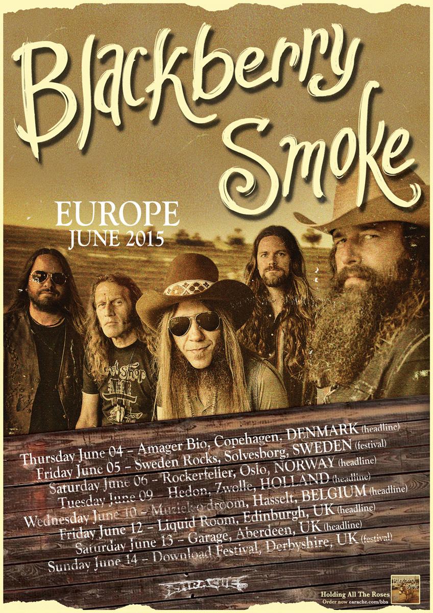 Blackberry Smoke Begin European Tour, Sweden Rock and