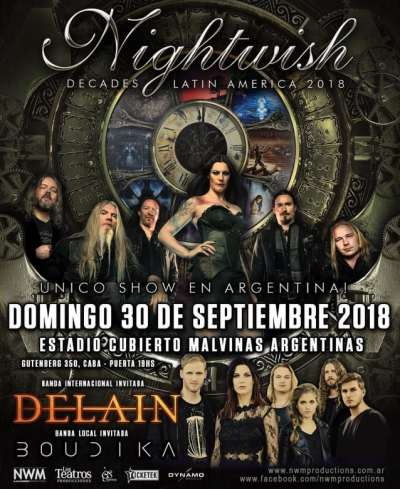 Nightwish To Record South American Tour Dates For Upcoming DVD