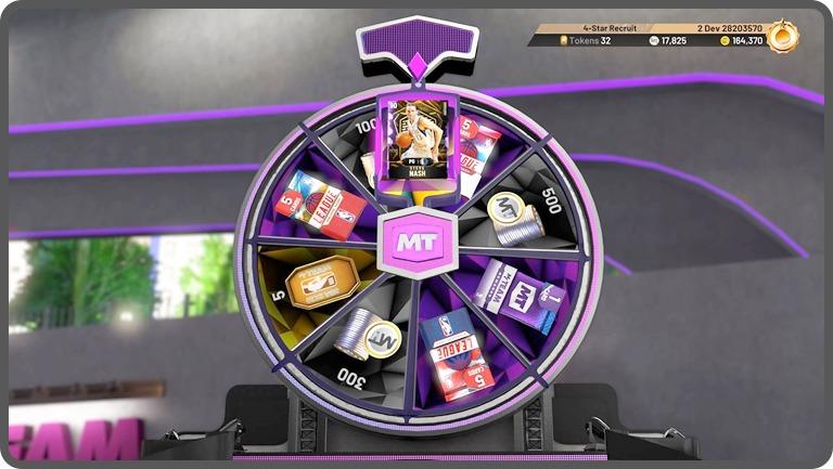 NBA 2K20 slots loot box screen shot