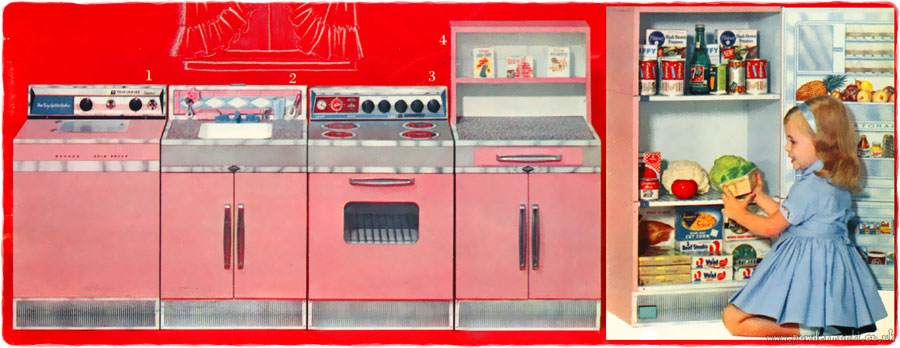Toy Kitchen Sets  Catalogues 1960s1980s  Retro Musings