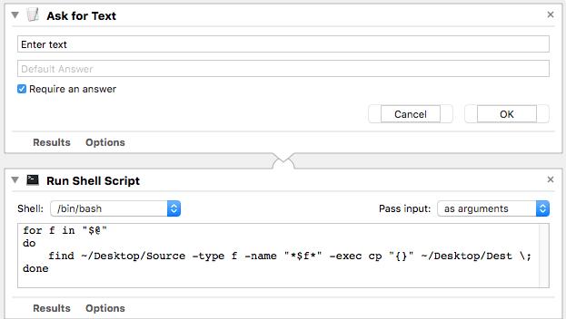 Run shell script
