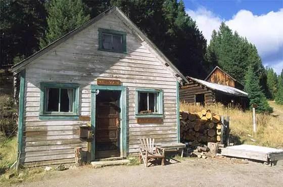 Edificio para la taberna en el pueblo fantasma de Garnet