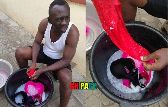 Akrobeto washing Wife Underwear