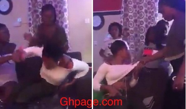[Video] Ghanaian Lady Mercilessly Beats Up A Girl For Snatching Her Boyfriend
