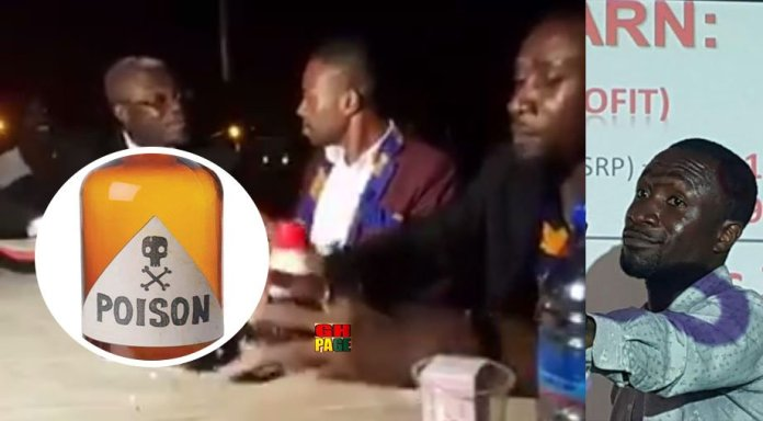 Video: A Ghanaian Pastor in a public debate was dared to drink a poison to prove the power of Jesus