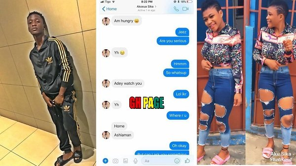 Read the chat between Akosua Sika and Asaawa Gh that landed her in trouble [Screen Shots]