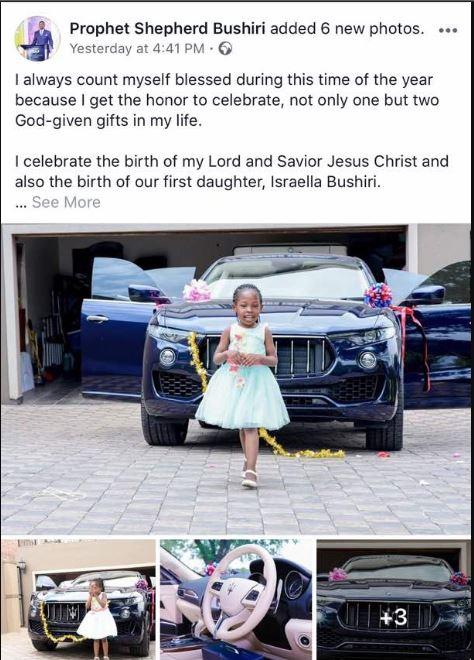 Malawian Flamboyant Pastor Buys His Daughter A Brand New Maserati