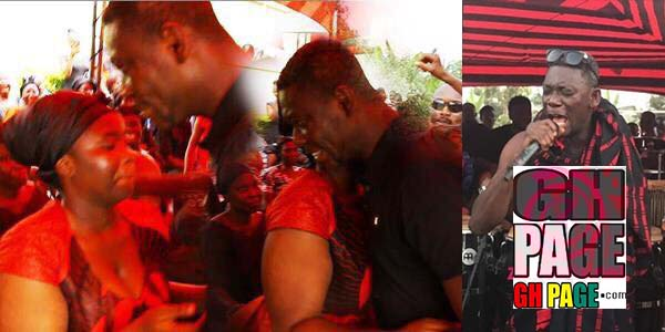 Agya Koo's live band performance at Maame Serwaa mother's funeral (Video)