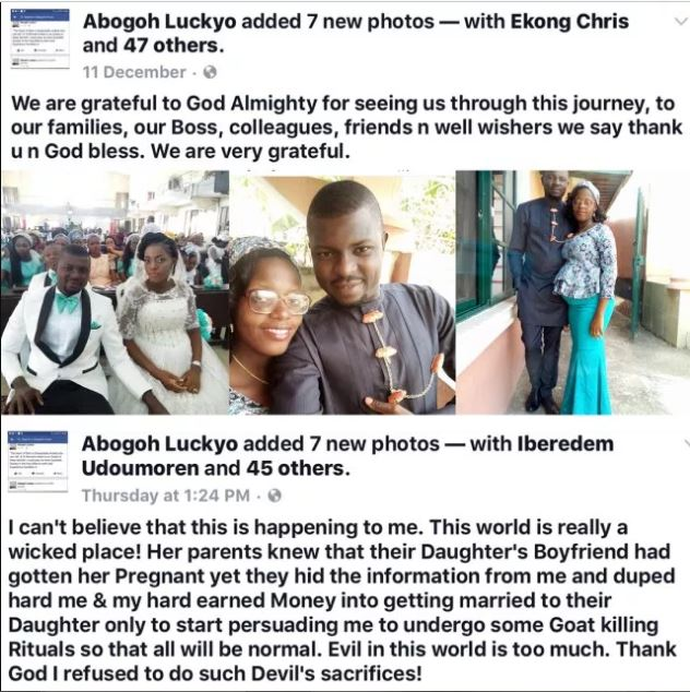 A Month After Wedding, Man Discovers His Pregnant Wife, Is Carrying Her Boyfriend's Pregnancy.