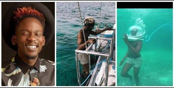 Video: Mr. Eazi Causes Wonder As He Enjoys His Vacation Under Sea