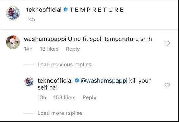 Tekno Gave A Weirdly Reply To A Follower Who Corrected His Spelling