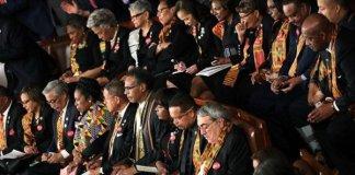 Photos: U.S Lawmakers Wear Kente To Protest Donald Trump's 'Sh*thole' comment