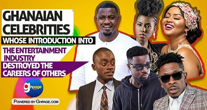 10 Ghanaian celebs whose introduction into the entertainment industry