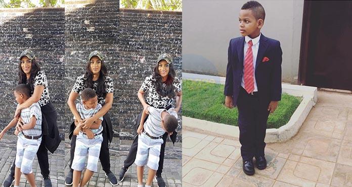 Actress Juliet Ibrahim stuns social media with photos of her son