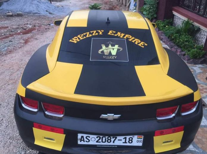 Kwadwo Nkansah Lil Win Buys A Brand New Camaro Car(Photos)