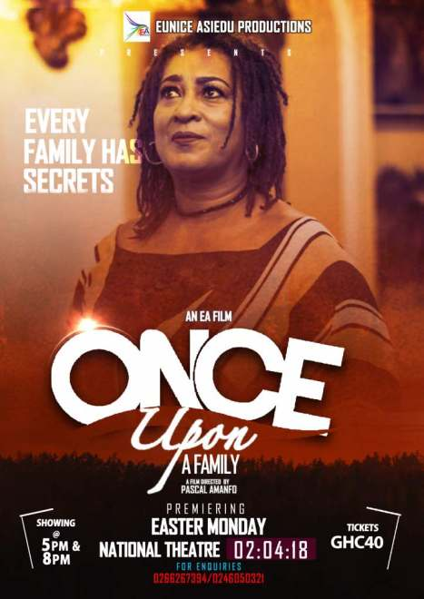"Mercy Johnson, Fella Makafui,Kofi Adjorlolo in ""Once Upon A Family"" Movie premiers on 2nd April at the National Theater"