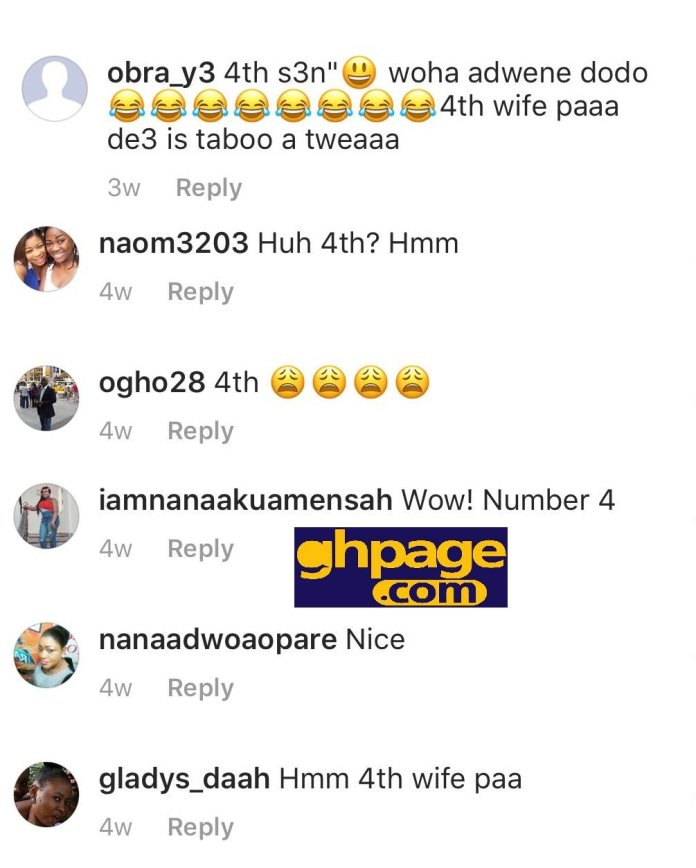 Social Media Users Troll 'Akua Ghana's Most Beautiful' for being the 4th Wife Of The 'Old' Dr. Kwaku Oteng(With Screenshots)