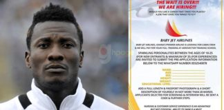 It's Official: Asamoah Gyan's Baby Jet Airlines start recruiting; here's how to get a job