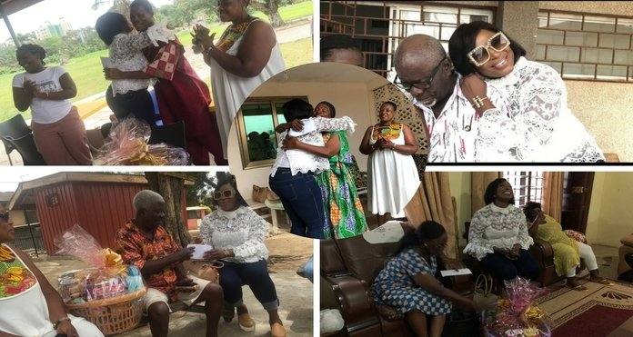 Actress Gloria Osei Sarfo donates to veterans on her birthday