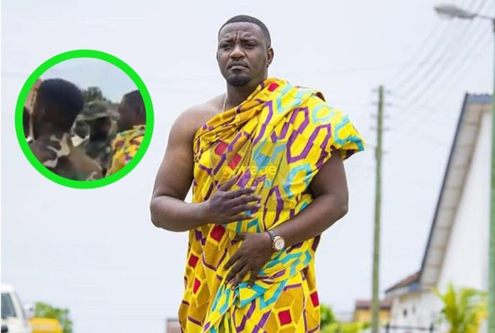Two Military Personnel Spotted Guarding John Dumelo At His Traditional Wedding (Video)