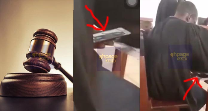 Shocking Video: Court Judge Caught Watching Porn Whiles Court Is In Session