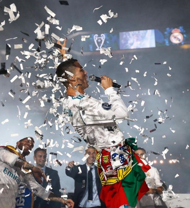 Real Madrid celebrate their 13th Champions League success at the Bernabeu