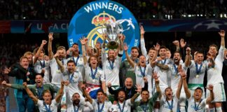 Real Madrid beat Liverpool 3-1 to win the champions leagues for the third consecutive time