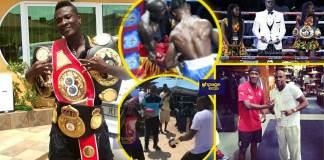 Asamoah Gyan displays his boxing skills