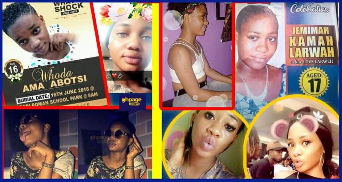 One Week Celebration Photos Of The Dead Tramadol Girls Pops Up