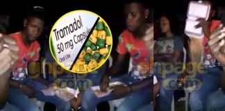 Video: Nima youth bath himself with Indomie after abusing Tramadol