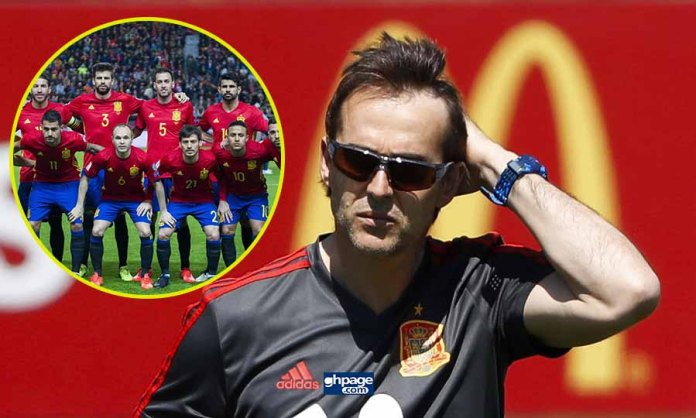 Spain sack manager Julen Lopetegui just a day before the world cup