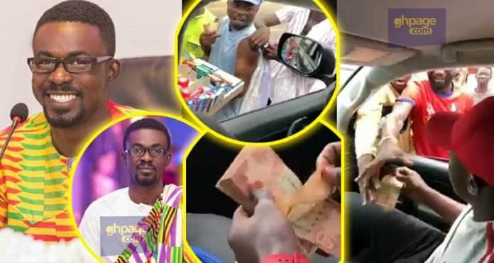 Zylofon Media CEO, Nana Appiah Mensah Splashes Money On Street Hawkers