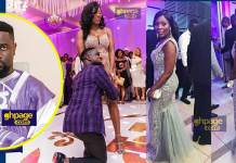 Sarkodie mother-in-law wows patrons at their wedding with stunning dress