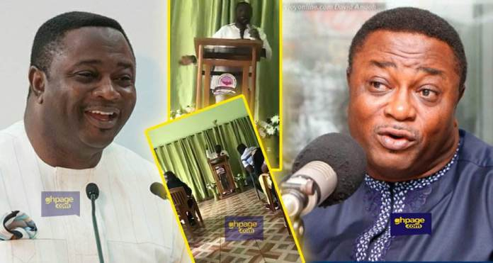 A video of former sports minister Elvis Afriyie Ankrah preaching at a church goes viral