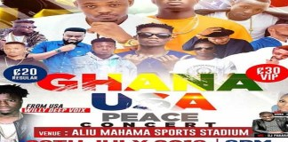 Ghana USA peace concert with Kidi, Kuami Eugene records less than 50 people