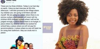 I will kill my kids and commit suicide today – Former AIDS ambassador, Joyce Dzidzor Mensah