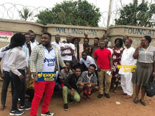 Musiga donates to Okomfo Kwadee at his rehab center