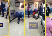 Police officer assaults woman & her baby at Midland Savings and Loans