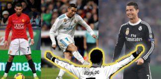 Ronaldo weer sleeve shirts playing football