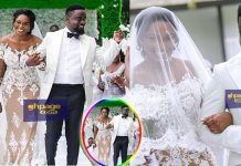 Sarkodie, Tracy and Titi breaks the internet with a family wedding photo