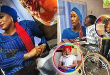 Man with no legs and hands draws an exquisite portrait of Samira Bawumia