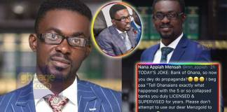 Photos: use Menzgold as a cover-up for your inefficiency - NAM1 blasts Bank of Ghana