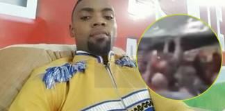 Rev. Obofour splash money at a funeral ground