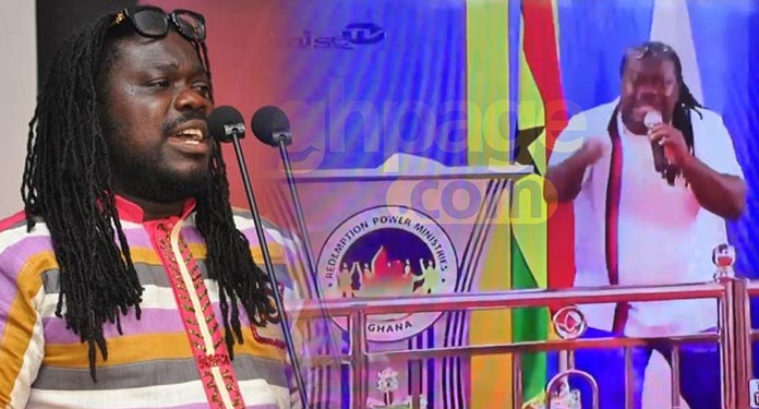 Image result for Obour turns preacher; spotted delivering a sermon in Church