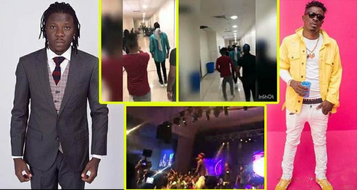 Shatta Wale and Stonebwoy performance at the opening of Zylofon media and Menzgold Nigeria