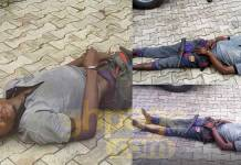 A suspected kidnapper who was arrested after falling asleep during a kidnap attempt at a chemist in Owo, Ondo State, on August 5, 2018, has died, nine days after his arrest.