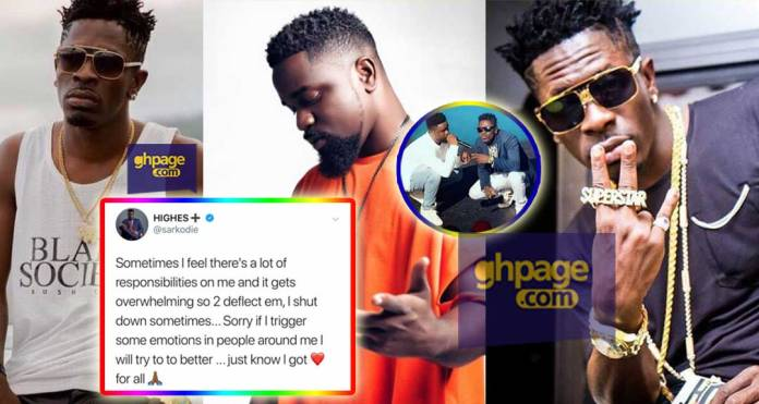 Sarkodie apologizes to Shatta Wale for snubbing him - Promises to change